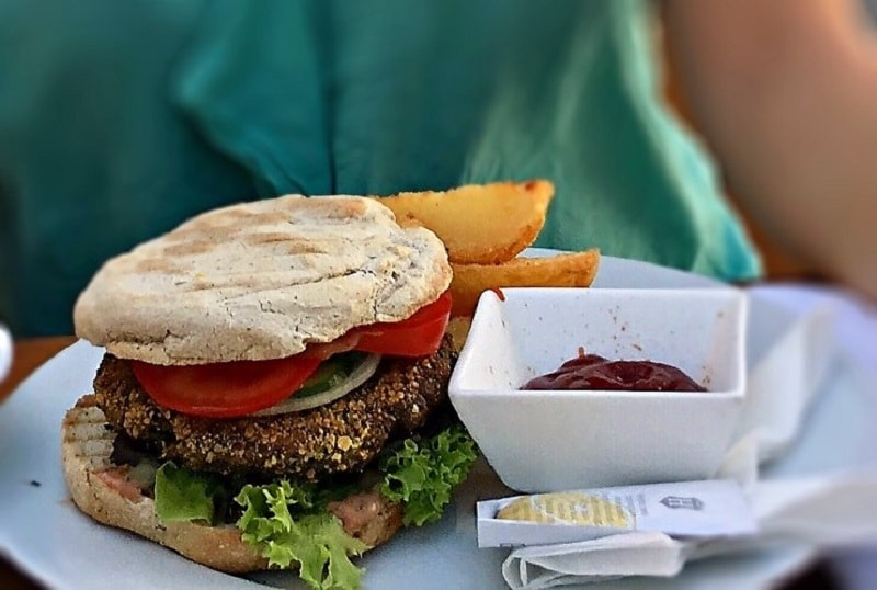 Glutenfreier Burger im GIOs