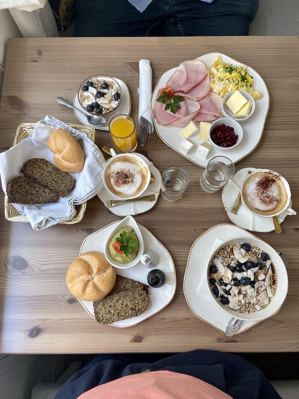 Frühstück im Café Grüner Salon