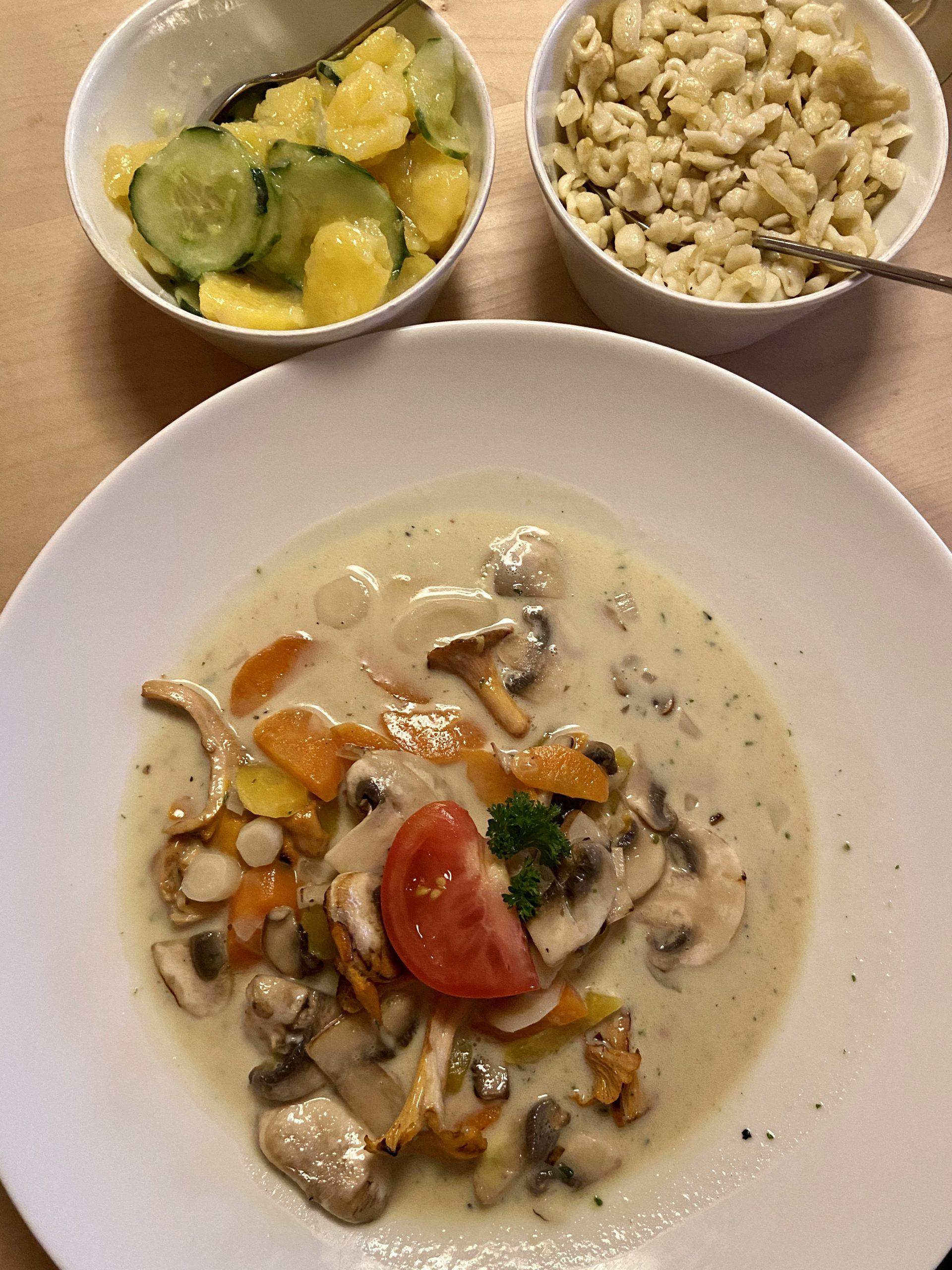 Glutenfreies Pilzragout in Scheidegg