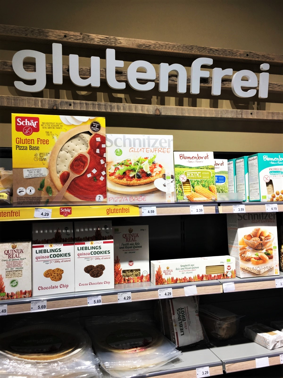 Glutenfrei beim Reformhaus Martin am Hauptbahnhof Wien