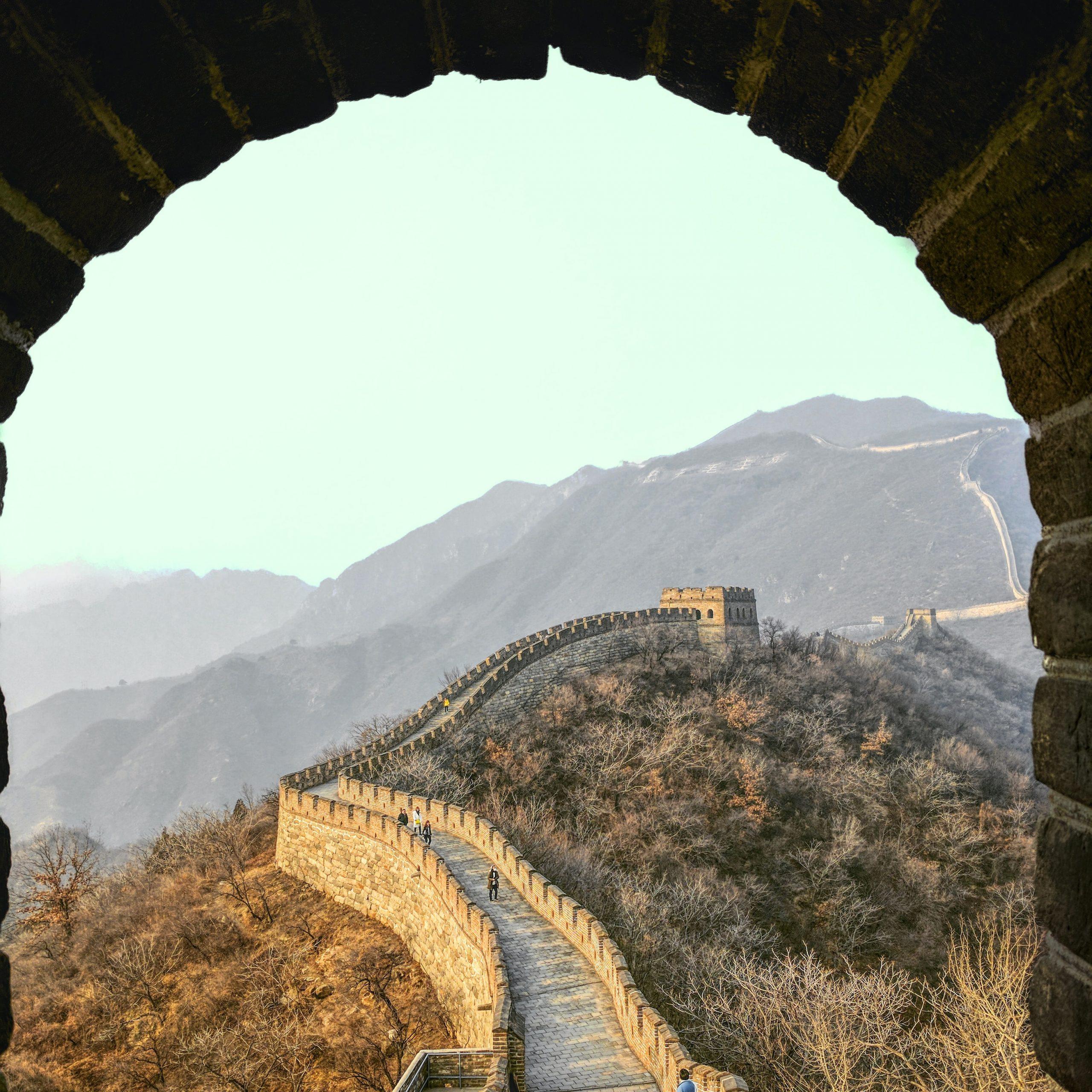 Da ist sie. Die Chinesische Mauer!