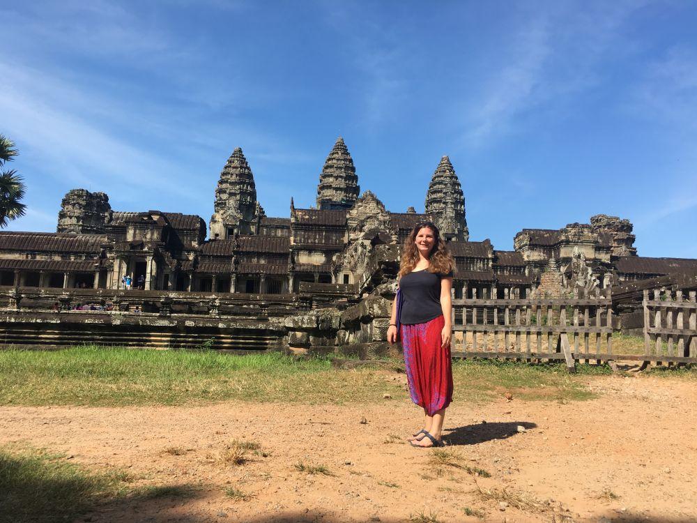 Ein Traum wird wahr. Ich stehe vor Angkor Wat!