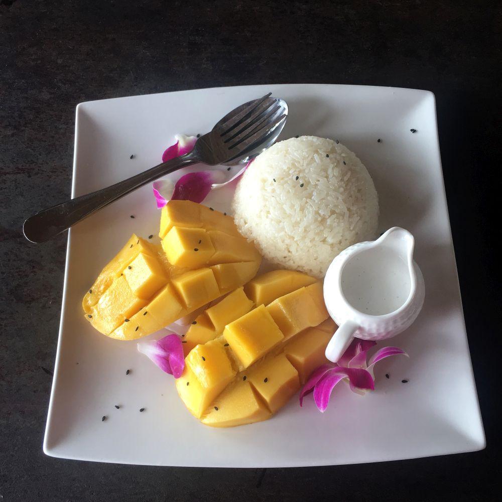 Mango Sticky Rice – Reis mit Kokosnussmilch und Mango