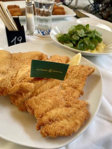 Glutenfreies Schnitzel im Gasthaus Nestroy