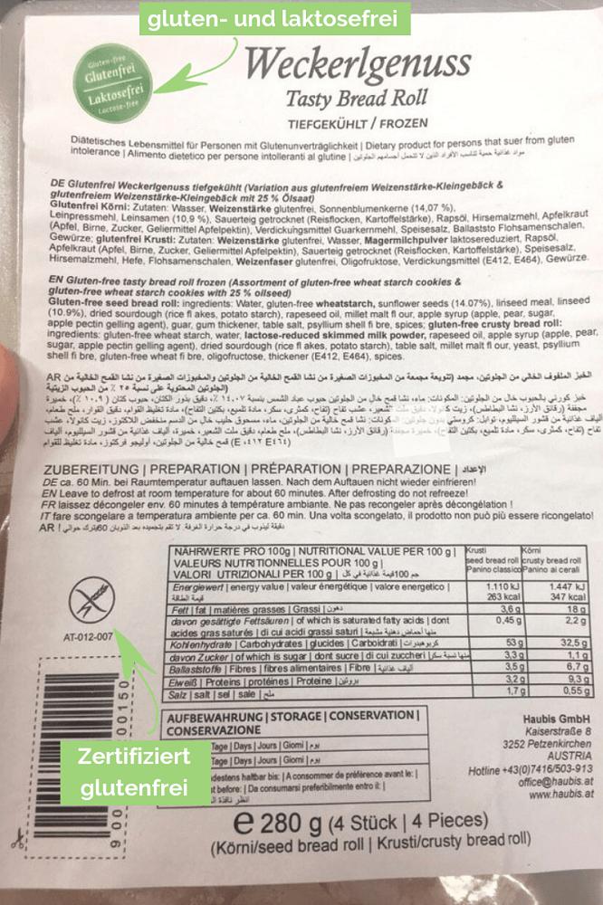 Die glutenfreien Produkte von Haubis sind zertifiziert glutenfrei