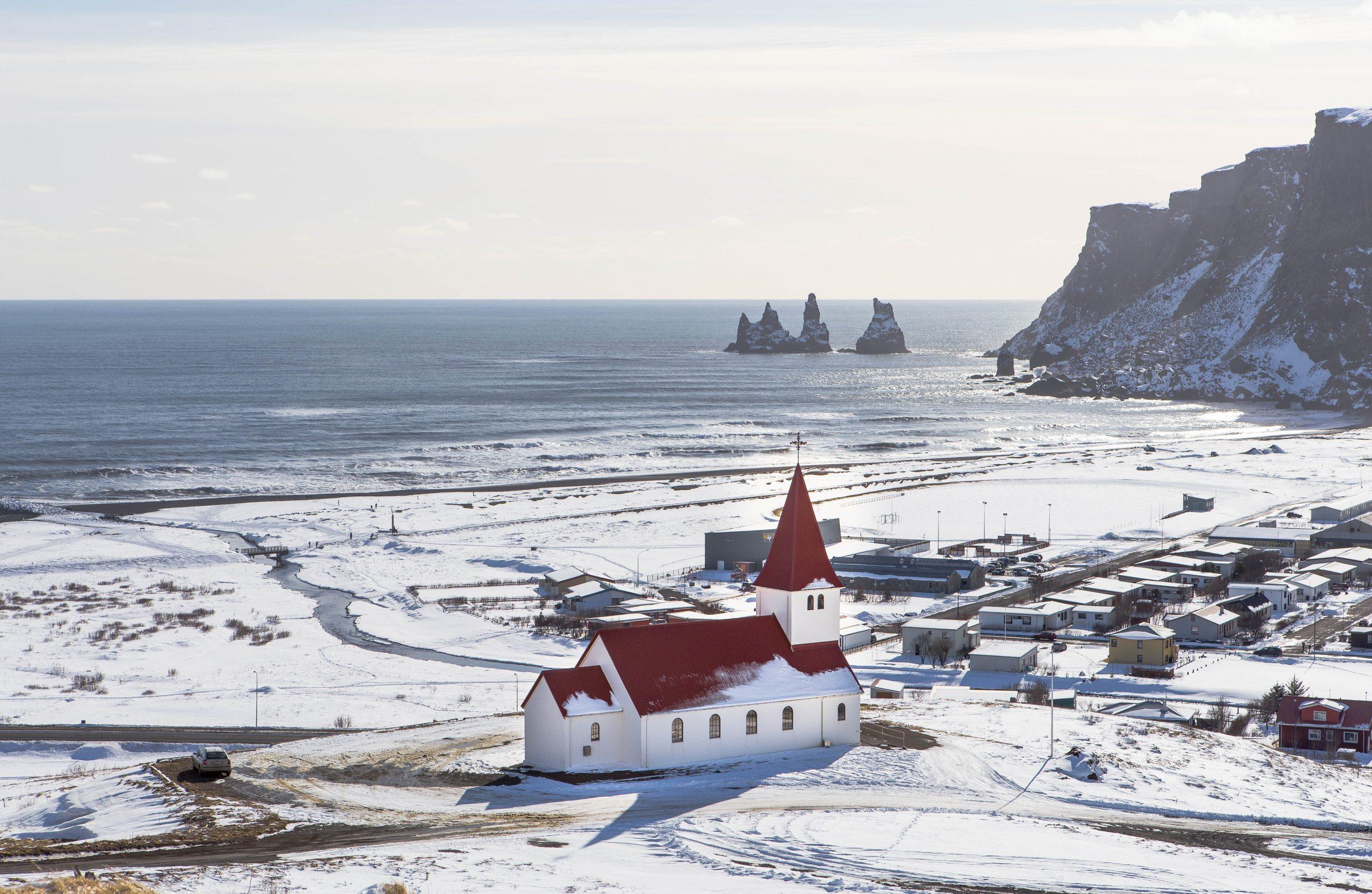Island im Schnee