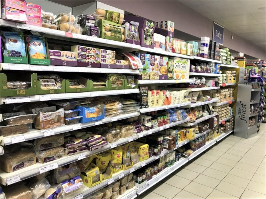 Tesco Dublin - die glutenfreie Auswahl