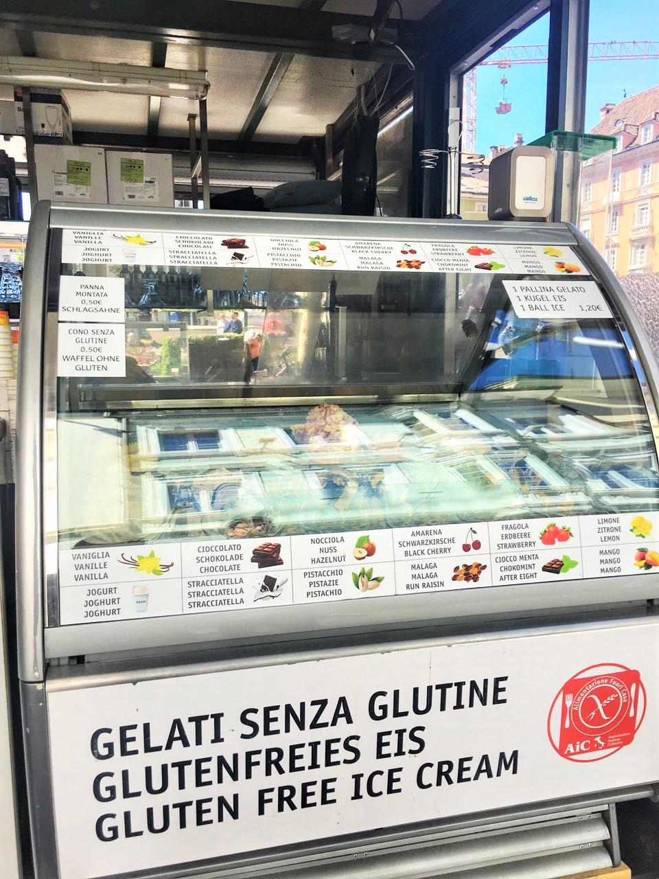 Glutenfreies Eis in Bozen
