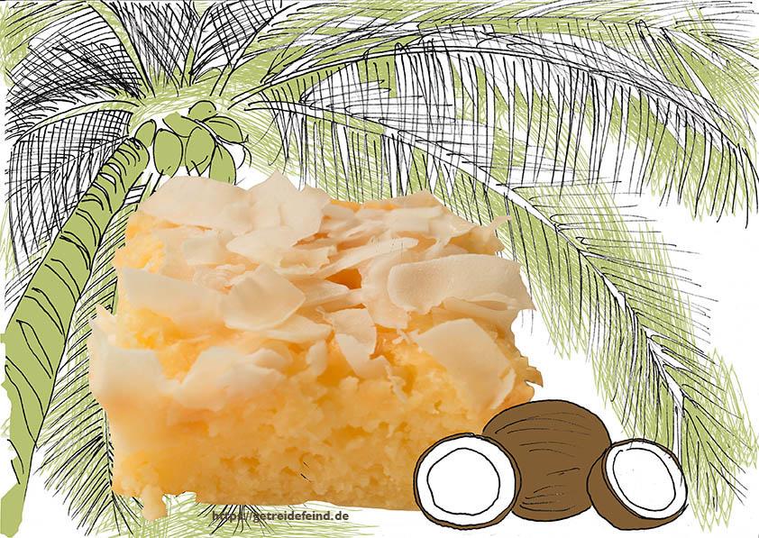 Der Buttermilchkuchen unter Palmen von Ann Rose