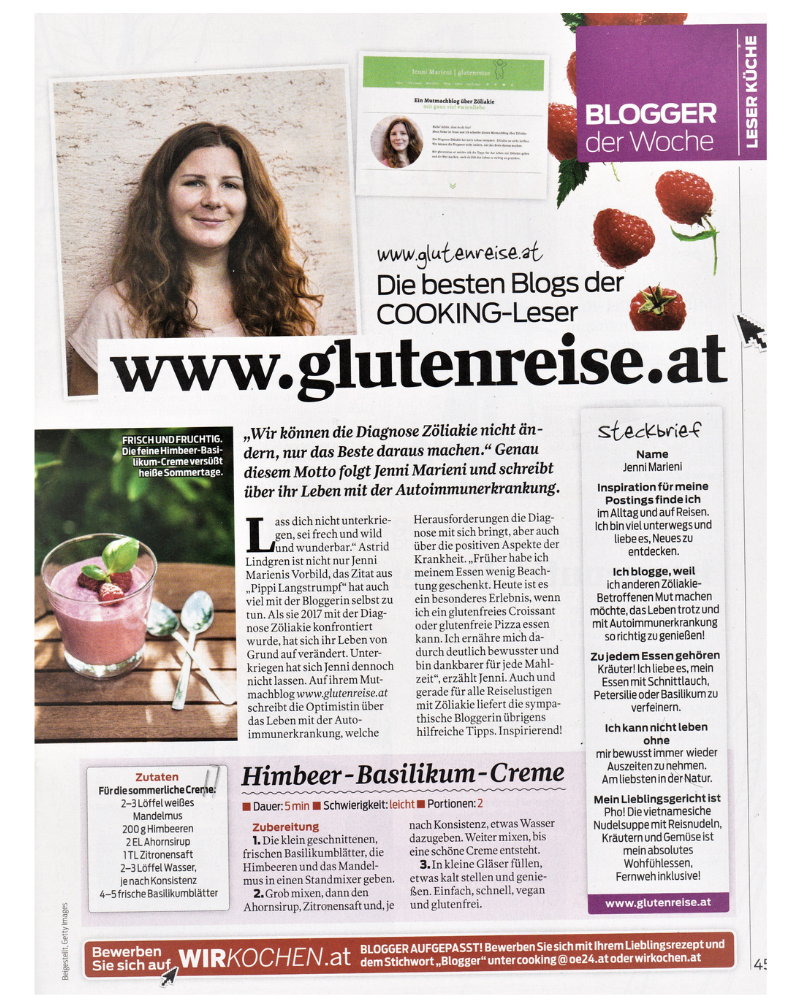 Jenni Marieni im Cooking Magazin