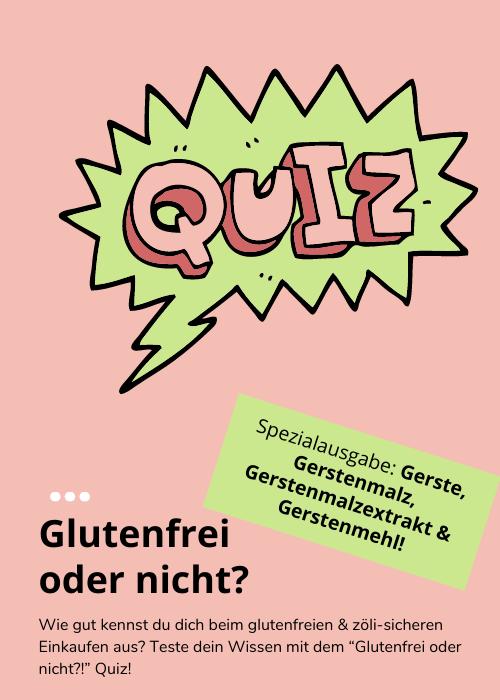 Glutenfreies Quiz: Spezialausgabe Gerste