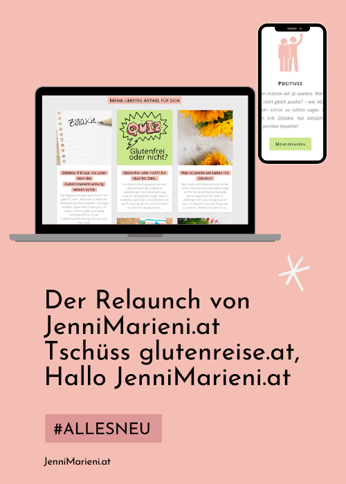 Tschüss glutenreise.at, Hallo JenniMarieni.at!