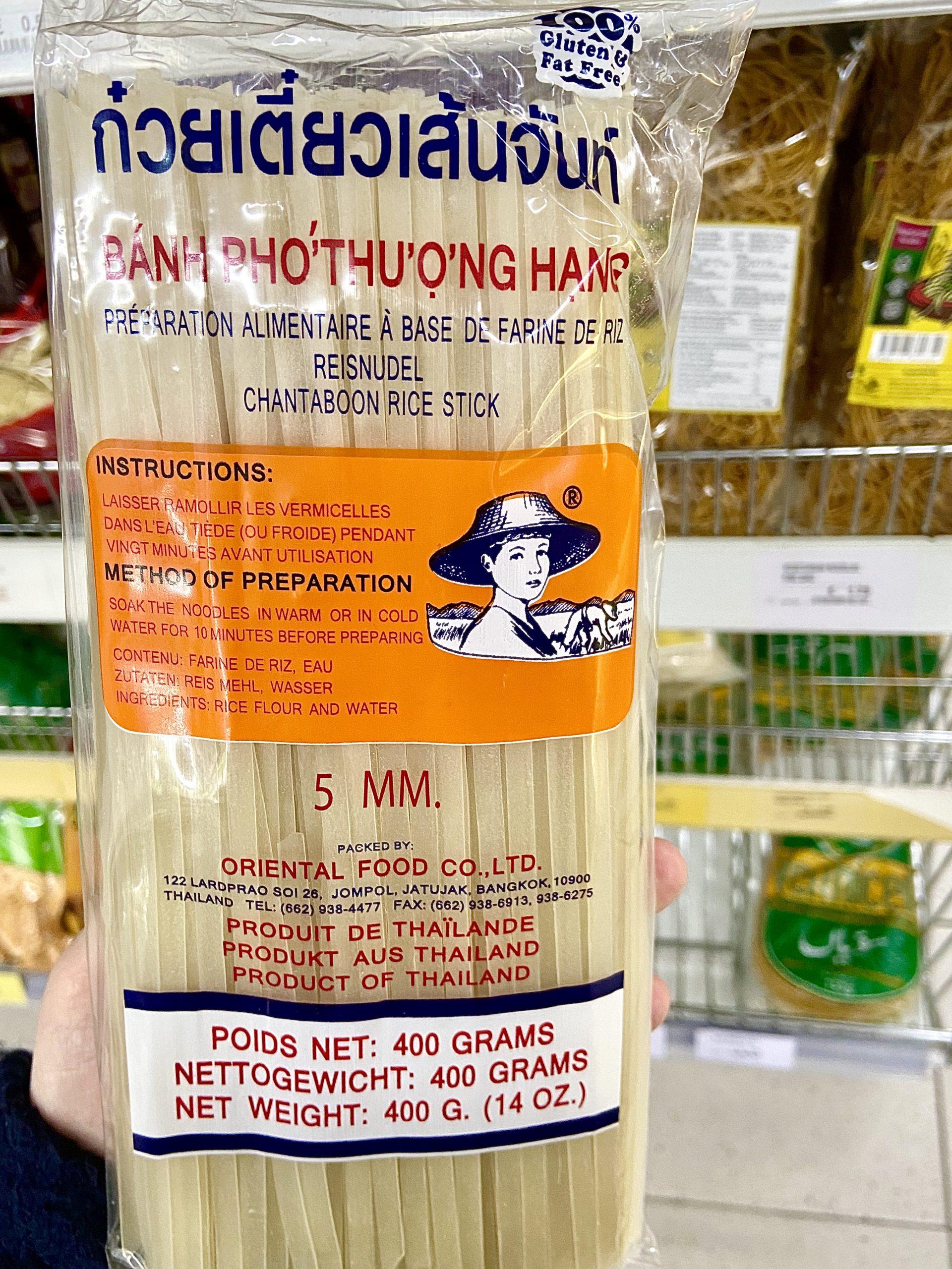 Glutenfreie Reisnudeln im  Josco Asian Supermarkt