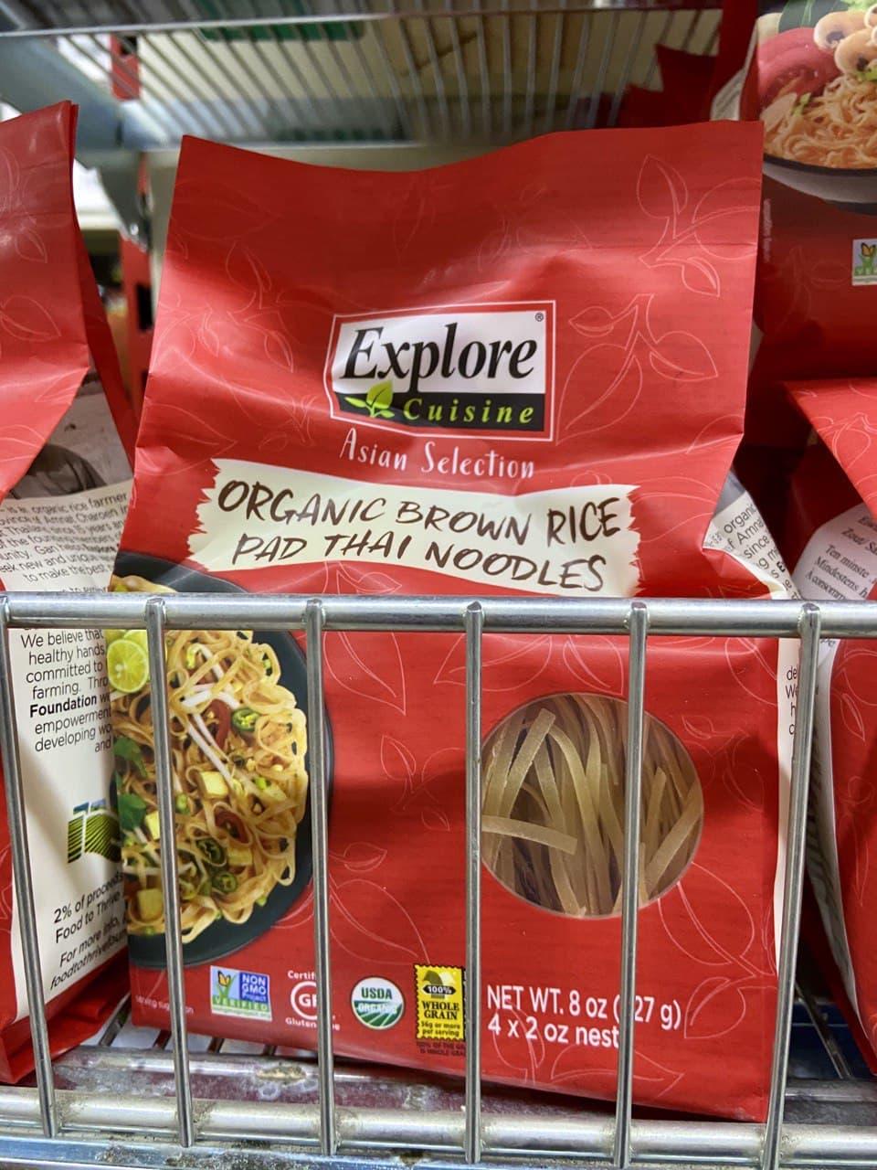 Glutenfreie Pad Thai Nudeln im Coco Asian Supermarkt in Wien - glutenfrei deklariert!
