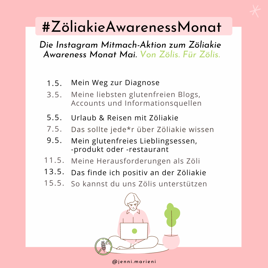 Mai ist Zöliakie Awareness Monat!